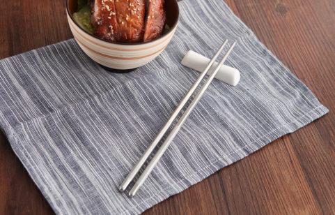 綠貝六角不鏽鋼筷