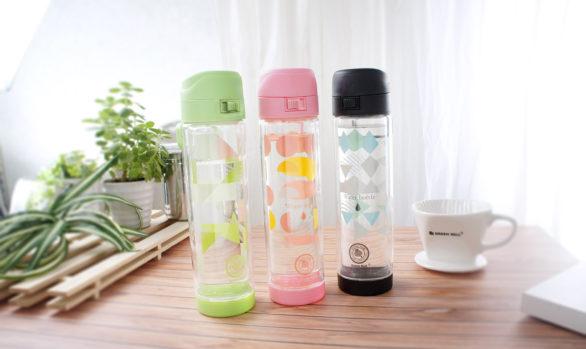 綠貝雙層防護玻璃水壺