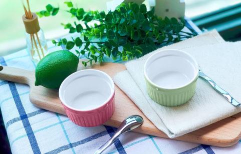 綠貝Color陶製布丁烤杯