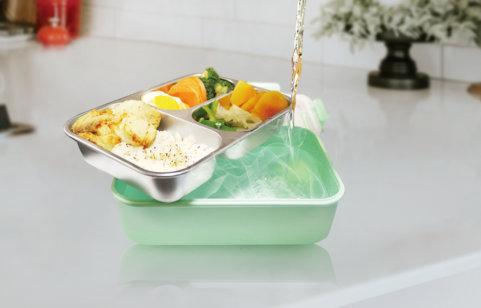綠貝316分隔密扣保鮮餐盒