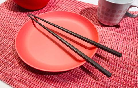 綠貝合金止滑方筷
