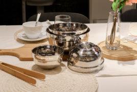 304不鏽鋼雙層晶緻隔熱碗